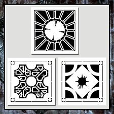 Set of 3 HELLRAISER Lament Configuration Puzzle Box STENCILS Hellbound/Pattern