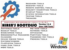HIREN'S BOOT DISC FIX REPAIR RECOVERY CD DVD FOR WIN XP VISTA 7 8 8.1 10 PC