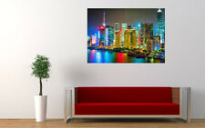 COLOURFUL SHANGHAI NEW GIANT LARGE ART PRINT POSTER PICTURE WALL