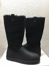 UGG CLASSIC TALL SONOMA BLACK LEATHER BOOT US 8 / EU 39 / UK 6.5 - NEW