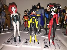 Batman Animated Batgirl, Poison Ivy, and Harley Quinn Figures. Loose.