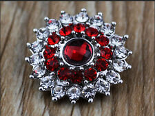DIY 3D Rhinestone Drill Snaps Chunk Charm Button Fit For  Leather Bracelets AW1