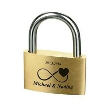 Lovelock Padlock GOLD incl. Engraved Design Eternity with Heart