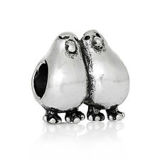 Lovebirds Love Birds Couple Animal Bead fits Silver European Charm Bracelets