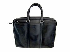 Coach black soft leather brief case attache with shoulder strap