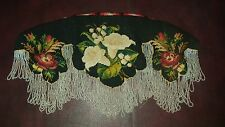 Antique Victorian Curtain Valance Micobeads and Embroidered