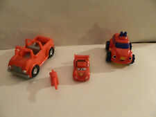 plastic red  cars and truck      Used