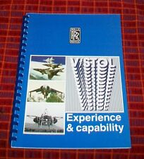 ROLLS-ROYCE V/STOL EXPERIENCE & CAPABILITY BOOK. TS3563. JUNE 1988. HARRIER  etc