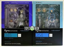 "In STOCK Max Factory Figma ""Kirito GGO + Asuna ALO"" Sword Art Online II 2 SET"