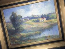 Danish Artist Axel Tankmar Orig. Landscape Impressionist Oil: LATELY A RARE FIND