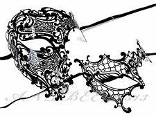 Couple Half Face Metal Evil Skull And One Eye Phantom Custom Masquerade Mask