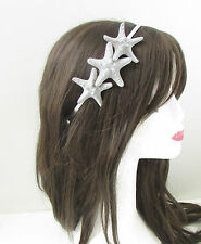 Silver Starfish Headband Beach Headpiece Hair Crown Little Mermaid Ariel Sea 259