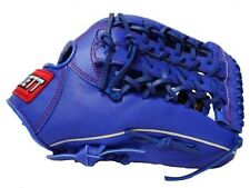 """ZETT 13"""" Baseball Glove Mitts Outfield Leather Right Hand Thrower RHT Blue T-Web"""