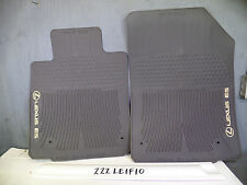 NICE OEM ALL WEATHER FLOOR MATS PAIR LEXUS ES350 07 08 09 10 11 12 Brown Tan
