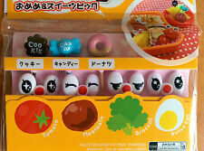 Cute Cartoon Eyes and Sweets Mini Skewer Food Picks for Japanese Bento Lunchbox