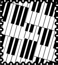 30 Custom Piano Keys Stamp Art Personalized Address Labels