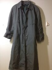 London Fog Size 14 Petite Long Trench Coat