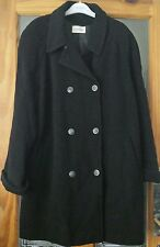 ASTRAKA.  Ladies warm wool winter coat . Black . Size 18