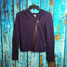 Converse Women's Purple Zip Up/Buttons Hoodie/Jacket Size XS