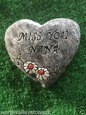 "Memorial stone / TARGA / Cuore / gravemarker ""MISS YOU Nana"""