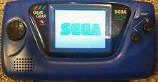 Sega Game Gear 100% WORKING BLUE GAME GEAR VERY GOOD CONDITION W/ FREE GAME