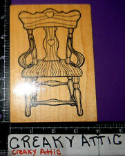 KITCHEN CHAIR WOOD RUBBER STAMP DARCIES U1897