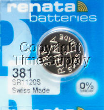 2 pc 381 Renata Watch Batteries SR1120SW FREE SHIP 0% MERCURY