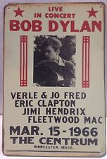 Bob Dylan Live In Concert Vintage Retro  Metal Sign Home Garage Bar Wall Decor