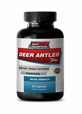 Aging Male Vitality - Deer Antler Plus 550mg - Male Enhancers Booster Pills 1B