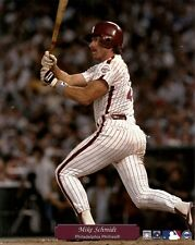 MIKE SCHMIDT 8x10 PHOTO Vintage Action Shot @The Vet PHILADELPHIA PHILLIES (HOF)