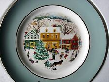 Avon Christmas Plate - Country Christmas (1980) - Enoch Wedgwood - NM