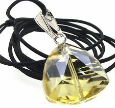 Golden Triangular Cut Andara Crystal Pendant with COA Free Worldwide Shipping