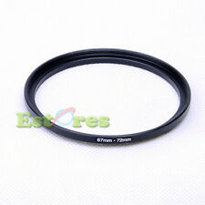 67mm-72mm 67-72 mm 67 to 72 Metal Step-Up Lens Filter Ring Adapter Black