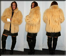 New Dijon Fox Fur Jacket - Size Medium 6 8 M - Efurs4less