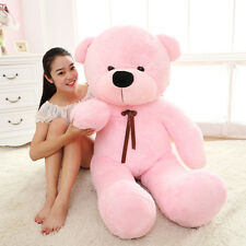 GIANT 100CM BIG CUTE PINK PLUSH TEDDY BEAR HUGE SOFT 100% PP COTTON TOY