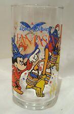 FANTASIA MICKEY COKE COCA-COLA GLASS CUP MCDONALD'S DISNEY - BRIGHT DECAL - EUC
