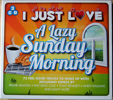 MOTHER'S DAY GIFT SEALED 3 CD PACK: I JUST LOVE A LAZY SUNDAY MORNING, 75 TRACKS