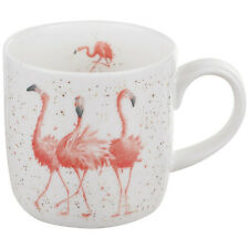 Royal Worcester Wrendale Design mug PINK LADIES Wrendale Designs FLAMINGO mugs