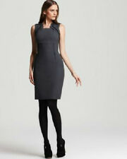 Elie Tahari NEW Evette Gray Wool  Wear to Work Dress 8