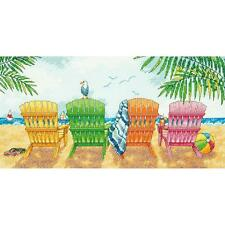Dimensions Counted Cross Stitch Kit - Beach Chairs