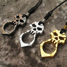 Skull Pendant Charm Keychain Self Defence Emergency Survival Tool EDC Tool