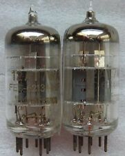 """VINTAGE 12AT7WA  60s """"O"""" GETTER & 3 MICAS = ECC801S  MATCHED PAIR"""
