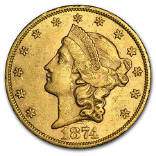 $20 Liberty Gold Double Eagle Coin - Type 2 - Random Year - AU - SKU #61871