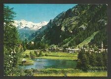 AD8373 Aosta - Provincia - Gressoney St. Jean - Panorama e laghetto per la pesca