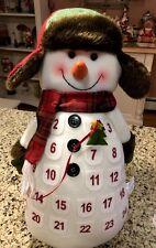 """Snowman Plush Advent Calendar Christmas Holiday Calendar Christmas Wreath XL 17"""""""