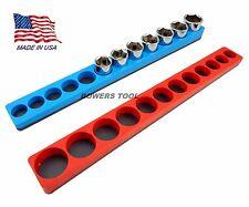 Mechanics Time Saver 3/8 Drive Magnetic Socket Holder Tray Metric SAE MTS USA