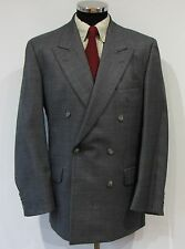 Magee Mens Pure New Wool Double Breasted Suit 40R