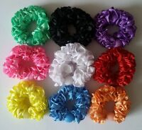 SET OF 9 COLOURFUL BEADED HAIR SCRUNCHY BOBBLES ELASTICATED HAIR BAND PONYTAIL