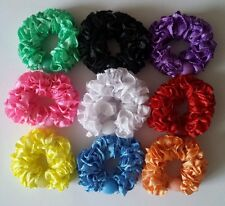 Hair scrunchy Colorful hair band elastic ponytail holder hair bobbles set of 9
