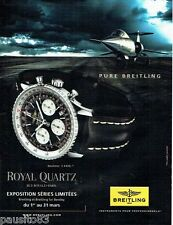 PUBLICITE ADVERTISING 116  2011   Breitling  montre  Navitimer  au Royal Quartz